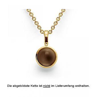 Bastian Inverun 925/- Silver hänge guldpläterad polerad rökig kvarts 1.61ct 24780