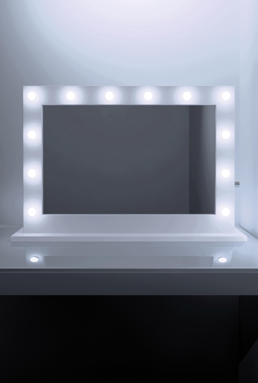 Anastasia White High Gloss Mirror (Grand) k313LEDEN