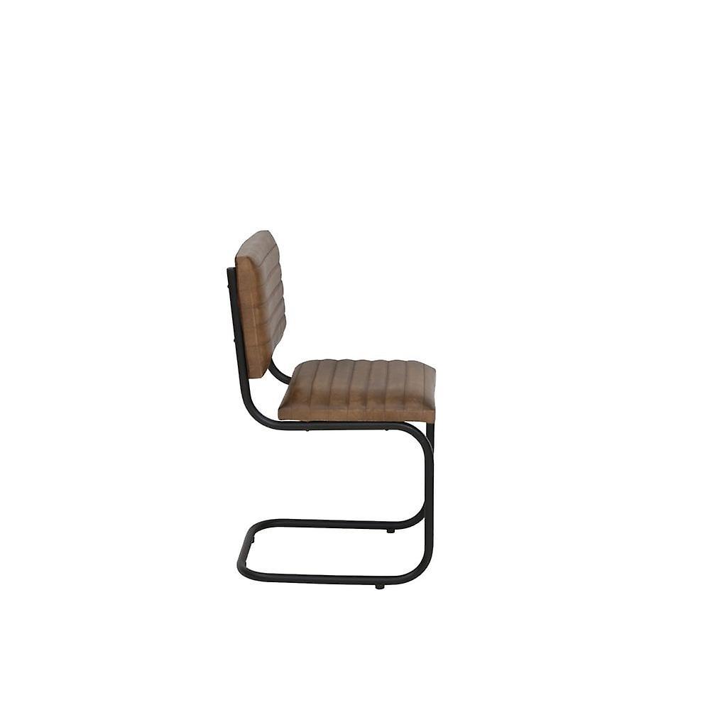 Chaise légère et vivante 43x47x86cm Lockhart Cuir Brun