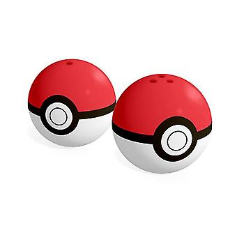 Pokemon - poke ball salt & pepper shakers