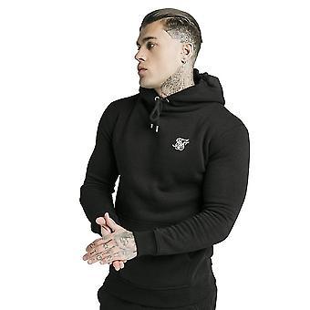 Sik Seide Ss-16074 Core Fleece Muskel fit Overhead Kapuze Top - schwarz