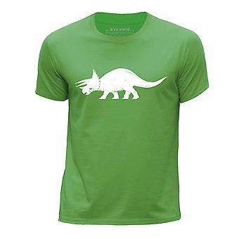 STUFF4 Pojan Pyöreä kaula T-paita/dinosaurus/Triceratops/vihreä