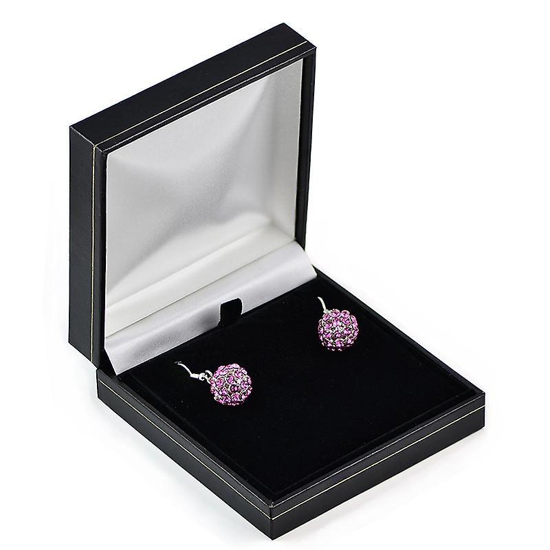 Rose Crystal Mesh Ball Earrings EMB112.16