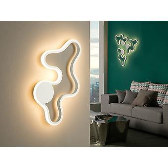 Schuller Marea - Parede led ou lâmpada de teto, feita de metal e alumínio, acabamento branco de areia. Difusor de silicone opala. LED de 14W. 800 lm. 3.000 K. - 723955