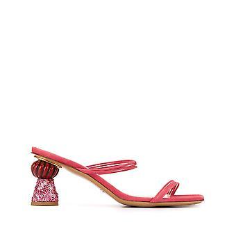 Jacquemus 201fo0820180400pk Women's Pink Suede Sandals