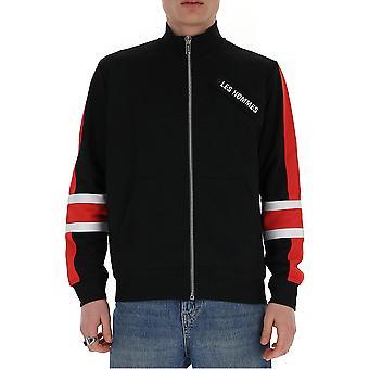 Les Hommes Lih501760u9015 Men's Black Cotton Sweatshirt