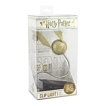 Harry Potter Golden Snitch Lumi Clip Light LED Book Light Iconic Collectable