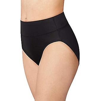 Bali Womens Passion for Comfort Hi-Cut Panty, Black, Black, Size 9.0