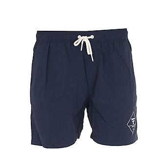 Barbour Beacon Navy Logo Swim Shorts