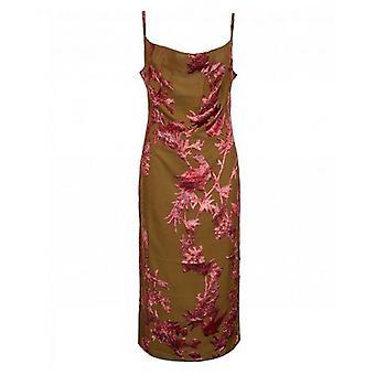 Hope And Ivy Velvet Flocked Detail Cami Dress