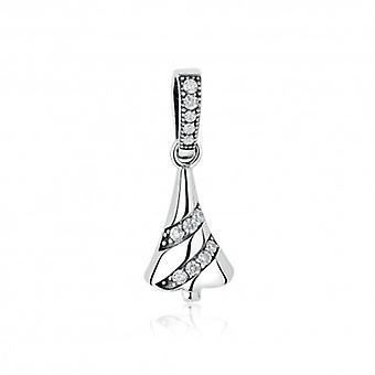 Sterling Silver Hänge Charm Lysande julgran - 5471