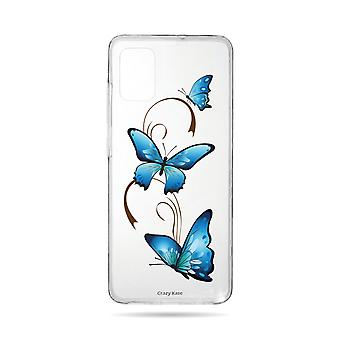 Hull For Samsung Galaxy A51 Flexible Butterfly On Arabesque