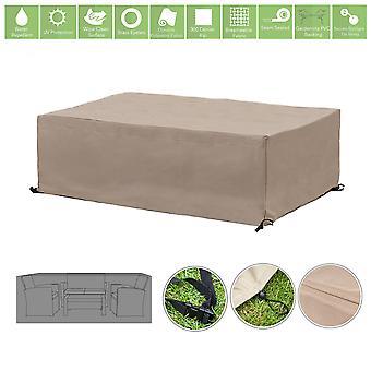 Protector de la cubierta de la cubierta del mueble al aire libre resistente al agua de piedra para el juego de sofás de jardín pequeño