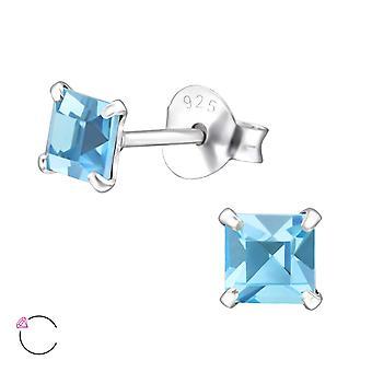 Quadratische Kristall aus Swarovski® - 925 Sterling Silber Ohrstecker - W29473x