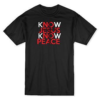 Know Jesus Know Peace  Men's White T-shirt