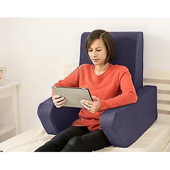 Mudando sofás Una Soft Wool Effect Leitura De Amortete o Trabalho De Volta Descanso - Safira
