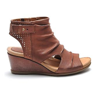 Earth Womens Sweet Pea Leather Open Toe Casual Platform Sandals