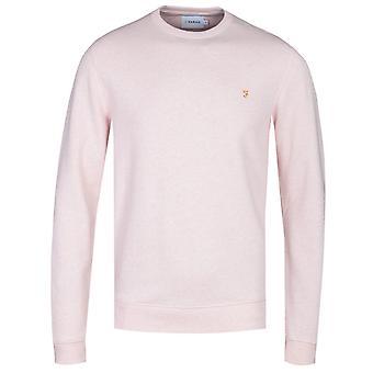 Farah Tim Blush Pink Marl Crew Neck Sweatshirt