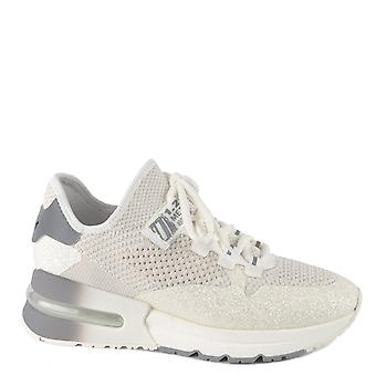 Ash Footwear Krush Glitter White Knit Trainer