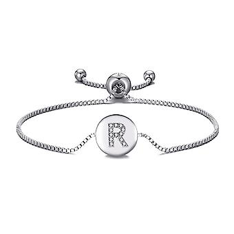 Initial friendship bracelet letter r created with swarovski® crystals