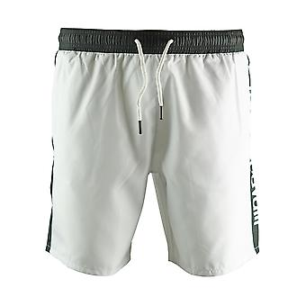 Roberto Cavalli Logo White Beachwear Swim Shorts