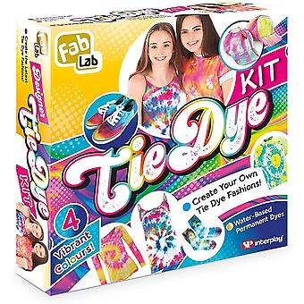fablab tie dye kit with 6 coloured tie dye applicators for ages 8 and above