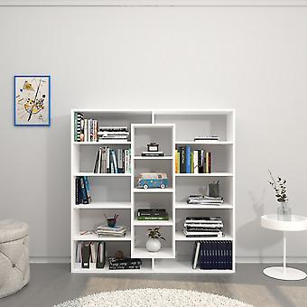 White Color Dalia Library in Melaminic Chip 130x27x130 cm