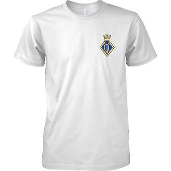 HMS Hibernia - Royal Navy Ufer Einrichtung T-Shirt Farbe