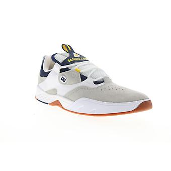 DC Kalis  Mens Gray Suede Lace Up Skate Sneakers Shoes