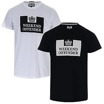 Men's Weekend Offender Tadmur 2 Pack T-Shirts in White