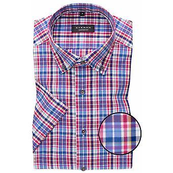 Eterna Mode Eterna Multi Colour Check Short Sleeve Shirt