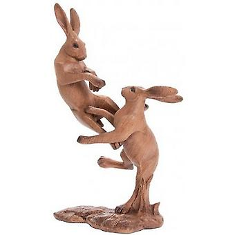 Animal Kingdom Fighting Hares Ornament
