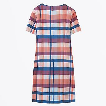 Gant - Diamond G Madras Print Shift Dress - Royal Red