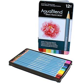 Spectrum Noir Spectrum Aquablend Watercolour Pencils Vivid Hues (12pc) (SPECAB-VIVID12)