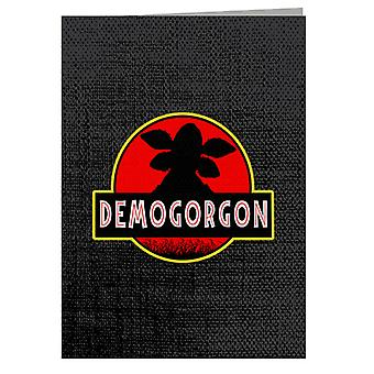Demogorgon Jurassic Park Stranger Things Greeting Card