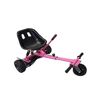 SILI® Off Road Suspension Kart for 2 Wheel Self Balance Scooter, Improved Design with Suspension Under Seat - PINK