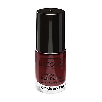 Natural nail polish n ° 02 deep berry 4 ml