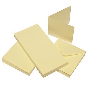 Craft UK Cards & Envelopes 3x3 Inch Ivory – 50pcs