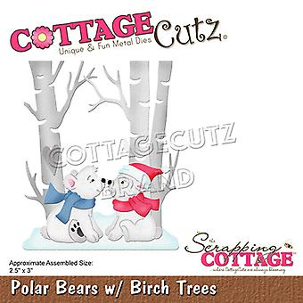 Scrapping Cottage Polar Bears with Birch Trees