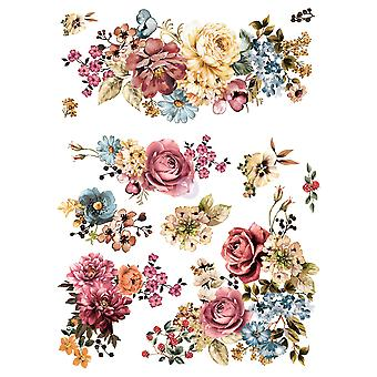 Re-Design with Prima Ruby Rose 25x30 Inch Decor Transfers