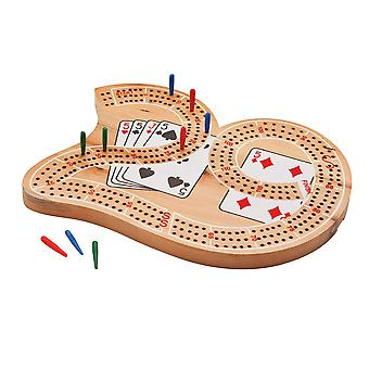 55-0104, Mainstreet Classics Wooden ''29'' Cribbage Board