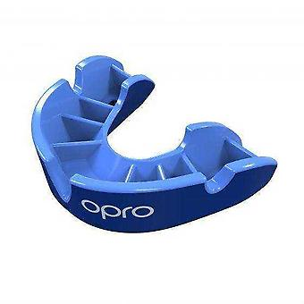Opro junior silver gen 4 mouth guard blue/light blue