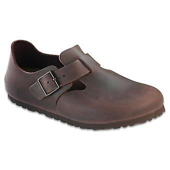 Birkenstock Men's Shoes London Leather Buckle Casual Clogs