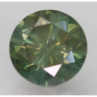 Cert 1,58 Karat Vivid Green VS2 Runde Brilliant Forbedret Natural Diamond 7.47mm