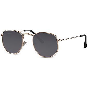 نظارات شمسية للجنسين الذهب / الدخان (CWI2411)