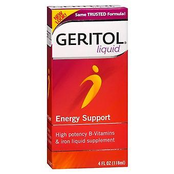 Geritol liquid energy support, iron liquid supplement, 4 oz *