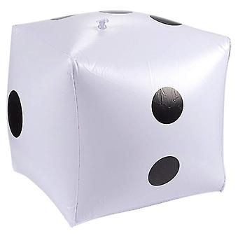 Funny Outdoor Inflatable Dice 30*30cm Swimming Pool Party Supplies For Adults