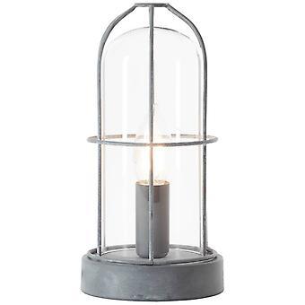 LYSANDE Lampa Storm Bordslampa Grå Betong | 1x D45, E14, 40W, lämplig för drop-lampor (ingår ej) | Skala A++