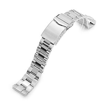 Strapcode se armbånd 20mm super-o boyer 316l rustfritt stål watch band for seiko sbdc053 aka moderne 62mas, børstet og polert v-lås