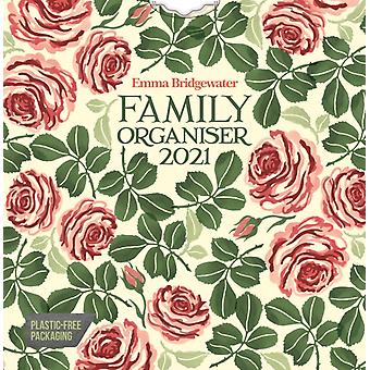 Emma Bridgewater Pink Roses WeektoView Square Wall Planner Calendrier 2021